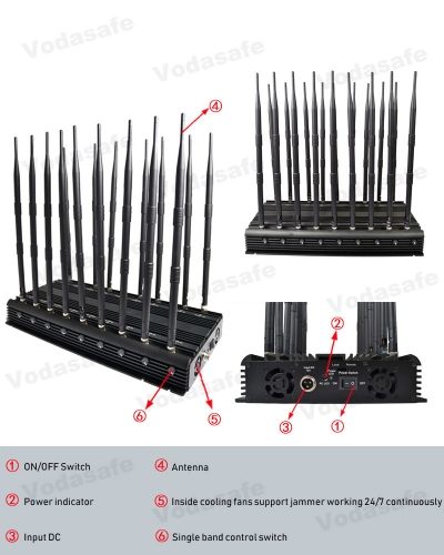 3g 4g wifi mobile phone signal jammer - phone wifi jammer with alarm